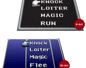 "Retro RPG Menu 24"" x 36"" Doormat Welcome Floormat featured image"