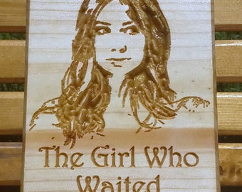 Doctor Who, Whoovian Carved Wooden Sign, Amy Pond, The Girl Who Waited, Doctor Who Art, Wooden Signs, Doctor Who Companion, Ashland City, TN