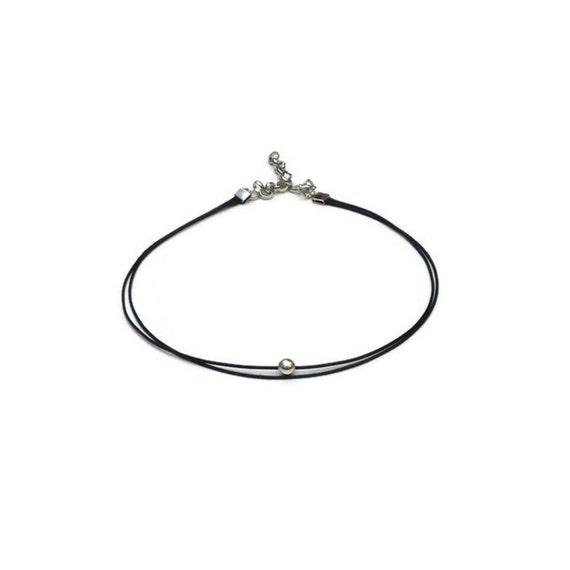 thin choker necklace thin beaded choker by