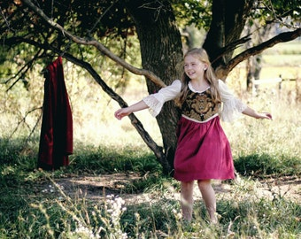 Gretel ~ Girl's Costume Dress & Cape ~ Ready to Ship