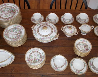 Exceptional! 84 piece Noritake Indian Tree China Dinnerware Set  ( Free Shipping)  Gorgeous! 950. or Best Offer!