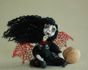 Halloween Brooch/ Halloween Jewelry / Scary Doll Brooch/ Halloween Decoratio/ Halloween Art/ Horror Art/ Brooches Doll/ Clay Doll