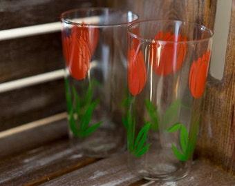 Set of (2) Tulip Glasses