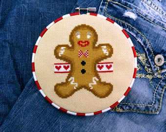 Gingerbread Man Christmas Cross Stitch Pattern – Christmas Crafts – DIY Gift – Xmas Decorations – Christmas Patterns – Décor