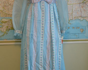 Vintage Blue and Purple Floor Length Gown with Tags