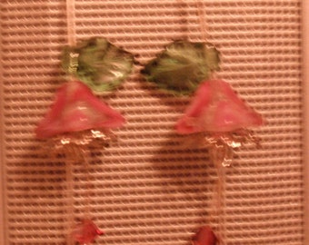 Hand crafted Swarovski Crystal earrings.  Vintage German Pressed glass.