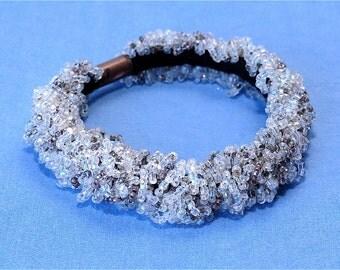 Wedding Dress- Beaded soft bracelet