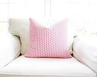 S A L E | Do's & Dots Pillow Cover | Pink Polka Dot | Hot Pink | 18x18