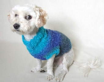 small dog sweater,  custom dog clothes, crochet dog sweater, teacup dog clothes, small dog clothes,  yorkie clothes, boy dog clothes