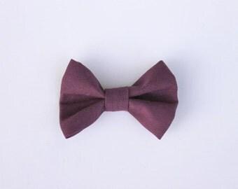 Plum Cotton Bow