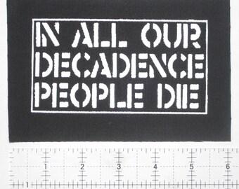 Crass Patch - DIY Crust Anarcho Punk Rudimentary Peni Amebix Disorder Subhumans Dirt Icons of Filth Aus-Rotten Nausea Black Flag