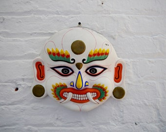 Vintage Asian Mask Paper Mache
