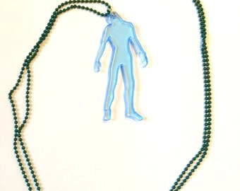 Just hanging blue Zombie Neclace