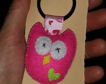 Stuffed Felt Owl Keyring