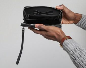 Leather clutch, mens wallet, womens wallet, leather wallet purse, handmade wallet, iPhone wallet, passport wallet, leather wallet, carryall