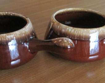 McCoy Soup Mugs, Soup Bowls, Crock, Set of 2, Vintage