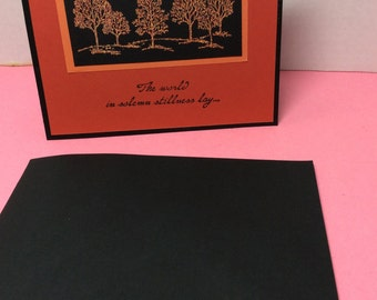 Rust and Black Tree Sympathy Card