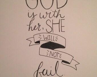Psalm 46:5 Hand Lettered Art