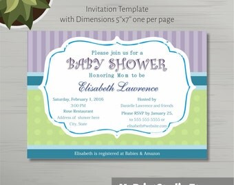 Printable Baby Boy Shower Invitation Template in MS Word