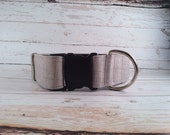 MADE TO ORDER- Gray Waverly Dog Collar, Choose width- Buckle or Martingale- add Embroidery and/or Leash