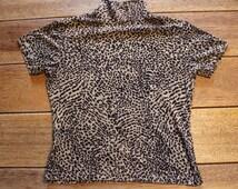 Henri Bendel New York 80s Turtleneck, Size Medium / Large Vintage Shirt Top