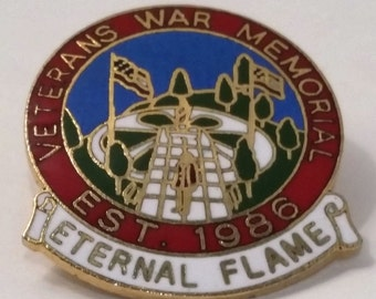 Veterans War Memorial Souvenir Pin