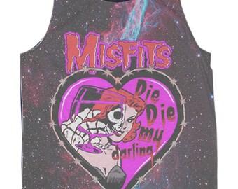 Galaxy Misfits die die my darling Muscle Black Tank Top Women S,M,L,XL