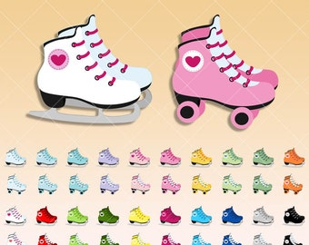 Rolling skate clipart Ice skate clip art -  Digital graphics perfects for scrapbooking - Planner stickers -  paper crafts - clean vector