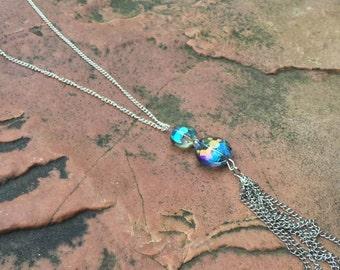 Iridescent Tassel Necklace