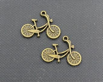 20pcs Bike Charm Antique Bronze Tone 26x20mm - BH130