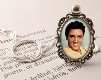 Elvis Presley Pendant Necklace - Elvis Jewelry, The King of Rock and Roll Pendant, Elvis Presley Necklace, Rock & Roll Gift, Elvis Jewellery