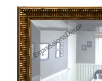 Custom Gold Vented Decorative Wall Mirror - Beveled Glass - FREE SHIPPING