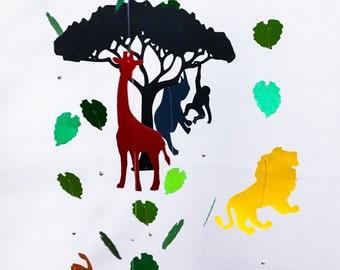 Safari Baby Mobile - Safari Crib Mobile - Baby Crib Mobile - Jungle Mobile - Elephant Baby Mobile - Safari Nursery - Nursery Mobile