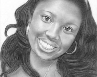 Hand Drawn Custom Pencil Portraits