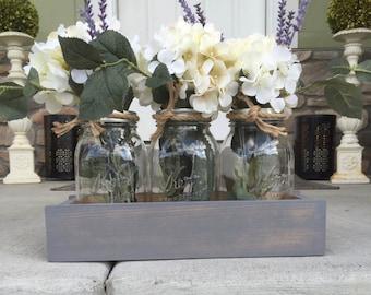Farmhouse Style Mason Jar Boxes