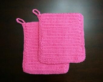 Crochet Pot Holder Set of 2  {Double Thick}