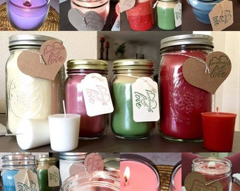 Shelle's Mason Jar Candles
