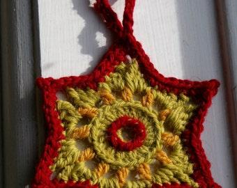 Cheerful hanging star