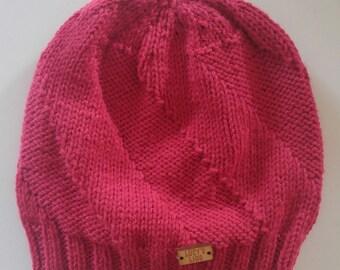Hand-knit Twist Hat