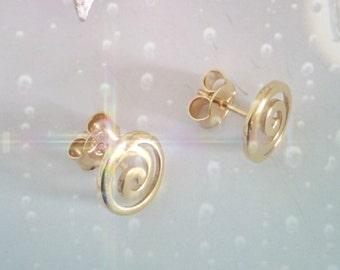 Ancient greek spiral,golden plated, silver925 cluster earrings