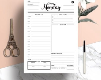 Free weekly menu planner template