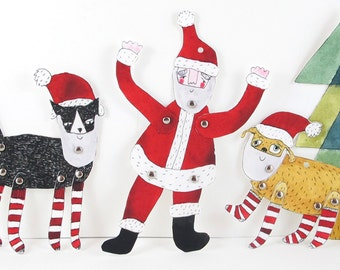 Paper Craft:  Christmas Decorations [Instant Download]