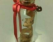 Custom Miniature Valentine in a bottle