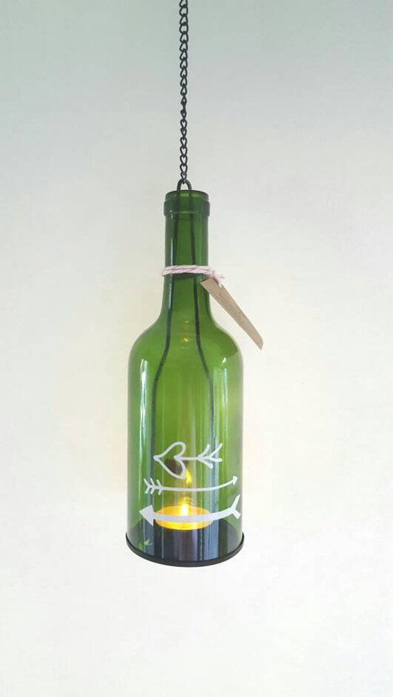 Wine bottle lamp recycled light garden light porch party for Wine bottle patio lights