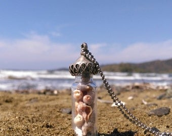 Shell Bottle Necklace - Sea Treasure Collection - A Piece of the Ocean With Me