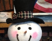 Large Primitive Snowman Head
