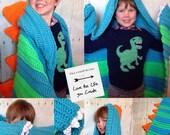 Dragon Dinosaur Hooded Blanket