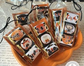 Halloween Kids Hershey Nugget Wraps 18 Black / Teacher Appreciation/Party Favor / Classroom Treats / Trick or Treat / You've Been Booed