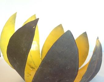 Lotus cut tin bowl / pendant light cover