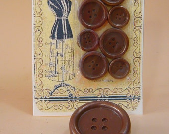 Chocolate Buttons Vintage Style Card
